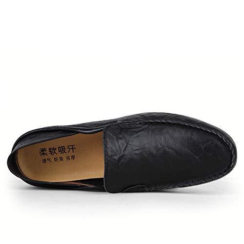 mocassini pelle mocassini Zgsjbmh uomo scarpe slip comfort 6 nbsp;cm nero morbido design unico mocassino gommino 22 5 vera guida 5 on e leggero Penny nbsp;cm 28 moccasin taglia AqaWnAr