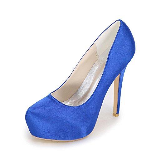 L@YC Women's High Heels Spring Summer Fall Winter Satin Wedding Party & Evening Stiletto Heel Blue Purple White Silver Red Champagne Blue