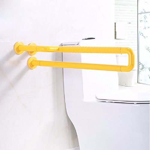 WAWZJ Handrail Toilet Handrails For Old Men Without Barriers,Yellow 75Cm by WAWZJ-Handrail