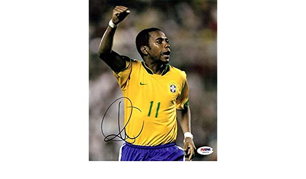 20b59817ee42 Robinho Signed Picture - De Souza 8x10#U54559 - PSA/DNA Certified - Autographed  Soccer Photos at Amazon's Sports Collectibles Store
