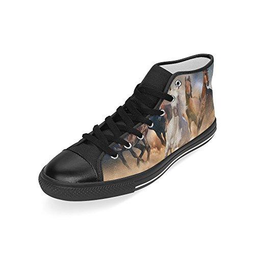 D-story Custom Running Horse Mens Classic High Top Scarpe Di Tela Sneaker Di Moda