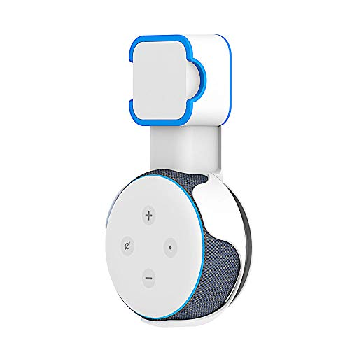 Wall Mount For Echo Dot 3rd Generation, for your Devices plug in kitchens, bathrooms and bedrooms etc,Built-in Cable…