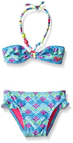 Roxy Baby Girl Island Tiles Ruffle Bandeau Set Infant, Ethereal Blue, 12-18 Months (Ruffle Bandeau)