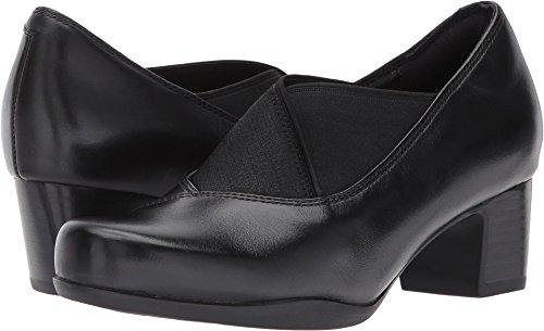 CLARKS Women's Rosalyn Olivia Slip-on Loafer, Black Combi, 7.5 M US by CLARKS