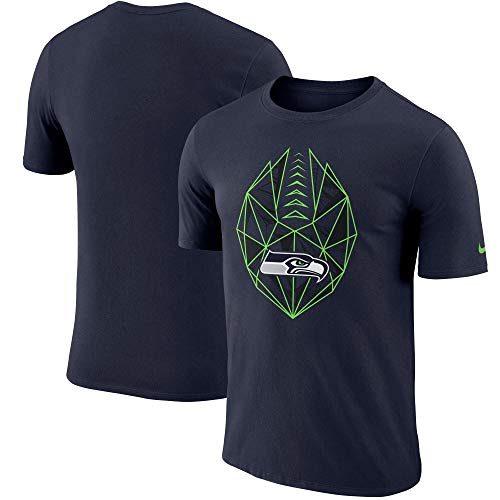 Nike Seattle Seahawks Dri-Fit Cotton Football Fan Gear Icon T-Shirt (Medium) ()