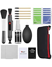 Temery 9-in-1 Professional Camera Cleaning Kit, Including Cleaning Cloth/Lens Brush/Storage Bag, for DSLR Cameras, Computer, Phone