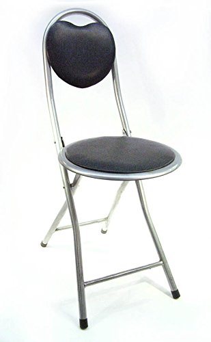 DLUX Small Folding Chair Extra Padded Cushioned Seat For Comfort by DLUX