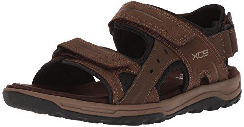 Rockport Men's Trail Technique Velcro Sandal Sandal, brown, 10 M US