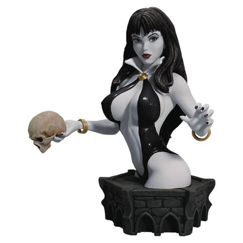 Women Of Dynamite Vampirella Limited Edition Bust By Arthur Adams 7 1/2 Inches (Black and White -