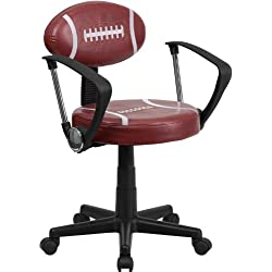 Flash Furniture Football Swivel Task Chair with Arms