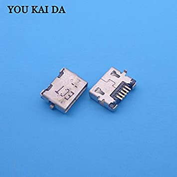 Computer Cables 5PCS//LOT Mini Micro USB Charger Charging Port Dock Plug Jack Socket Connector Repair Parts for Dell Venue 8 Pro 32GB Tablet Cable Length: Other