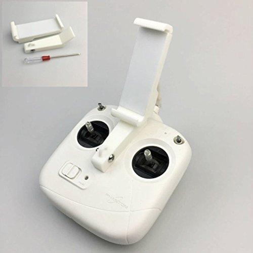Cheap Hooshion Extended Phone Holder Controller Holder Mount Bracket for DJI Phantom 3 Standard Remote Controller Bracket FVP Monitor Holder for sale