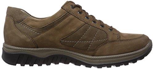 Waldläufer Honora - zapatos con cordones de cuero mujer multicolor - Mehrfarbig (Denver biber schlamm)