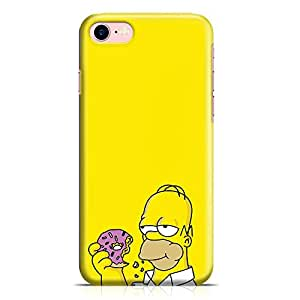 Loud Universe Donut Homer Simpson iPhone 8 Case The Simpsons Cartoon iPhone 8 Cover with 3d Wrap around Edges