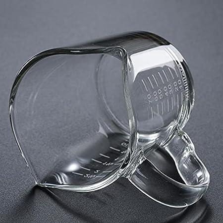 #N/a Vaso Medidor de Vidrio Jigger Taza de Onza de Escala Transparente de Doble Boca Resistente Al Calor de 2.5 Onzas para Té Whisky