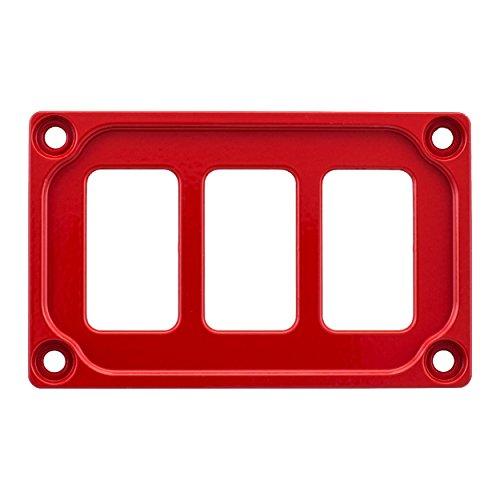 STV MOTORSPORTS Universal Switch Dash Panel Custom CNC Billet Aluminum 3 Rocker Switch Slots (Cnc Motorsports)