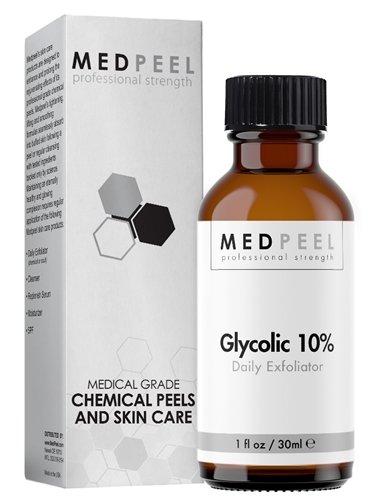 MedPeel Glycolic Acid 10% Exfoliator, Enhance Chemical Peel Results 1oz / 30ml