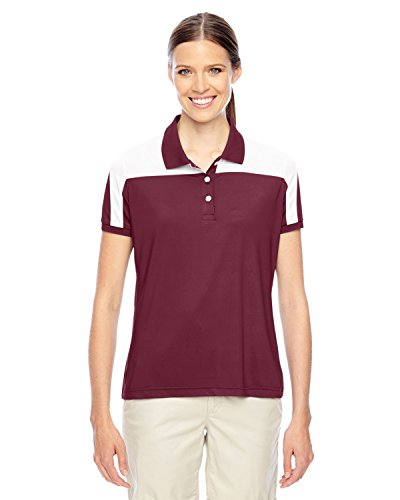 Maroon Striped Performance Polo - 4