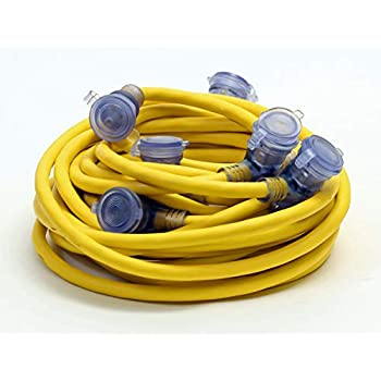 50 Foot 12 3 Yellow Outdoor Multi Outlet Extension Cord 5