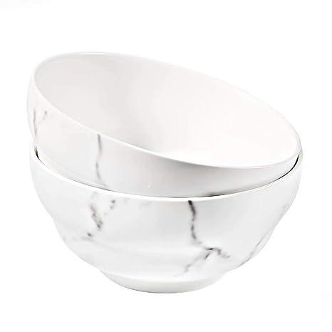 Keramik Suppe 650 ML Eis Porzellan Schalen Suppenschalen 77L Porzellan Suppe Schalen, Dessertschale 21.95 FL OZ 2er Set Eisschale f/ür Suppe Pasta und mehr Snackschale Salat