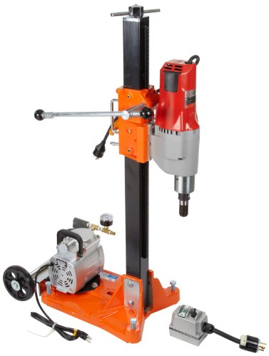 Core Drill Motor (Norton DR520 Clipper Core Drill Rig with Vacuum Pump, 2 Speed 20 Amp Milwaukee Motor, Standard Stand)