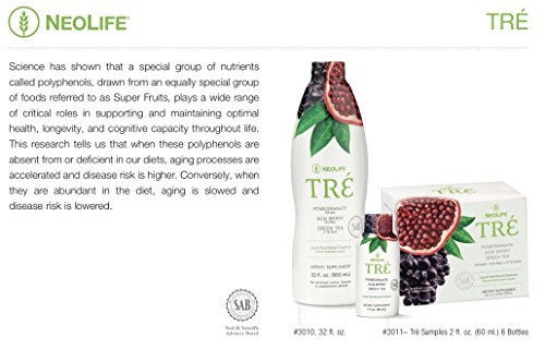 NeoLife Tré - Nutritional Essence Not just Juice, Tré Harnesses The Power of Pomegranate, acai Berry, and Green Tea to Promote a Healthy Heart and Sharp Mind.