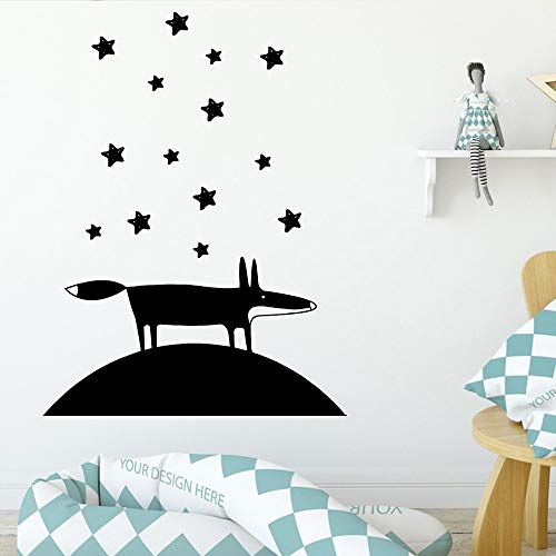 Giaou Wall Decal Sticker Art Mural Home Decor Quote Fashionable Fox Protection Stickers for Kids Room Decoration Mural