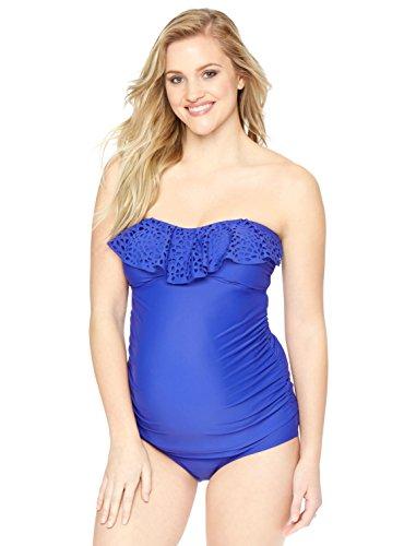 Motherhood Ruffled Maternity Tankini Swimsuit