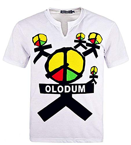 - CIGUO Mens Boys Perfect Cosplay OLODUM Beat It Piano Peace Anti War T- Shirts (S, White-1)