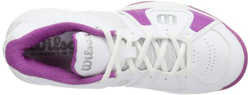 Wilson Women's RUSH OPEN W WHITE/WHITE/NEW FUSHIA Tennis Shoes Multi-coloured - Mehrfarbig (White/White/New Fuchsia) YIxIy7