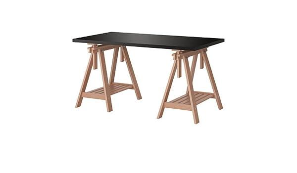 IKEA LINNMON escritorio mesa negro y marrón 59 x 30