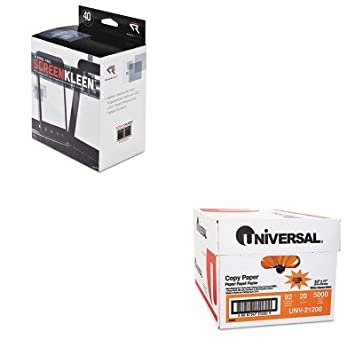 kitrearr1391unv21200 - Value Kit - leer derecho screenkleen sin alcohol toallitas húmedas (rearr1391) y Universal copia papel (unv21200): Amazon.es: Oficina ...