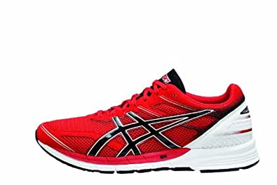 Asics Gelfeather Glide Running Shoes - Men's (Red Black, M: US 8.5 / EU 42 / 26.5 cm)