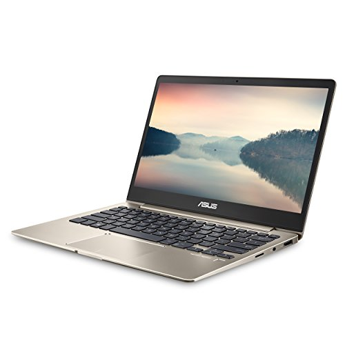 ASUS ZenBook 13 Ultra-Slim Laptop 13.3″ FHD Display, Intel 8th gen Core i5-8250U, 8GB RAM, 256GB M.2 SSD, Win10, Backlit KB, FP, Icicle Gold, UX331UA-AS51