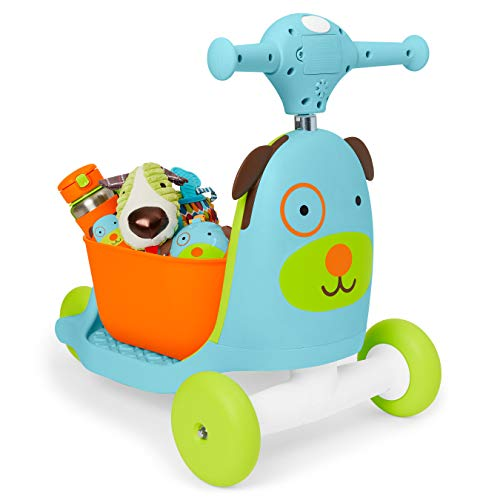 41FYs20LfXL - Skip Hop Kids 3-in-1 Baby Activity Walker & Ride On Scooter Wagon Toy, Dog