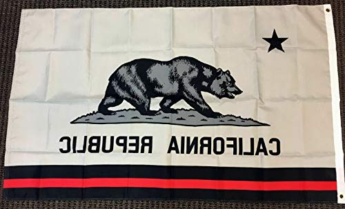 Kaputar 3x5 California Thin Red Line Flag Firefighter First Responder Lives Matter New | Model FLG - - Flag 1st Confederate