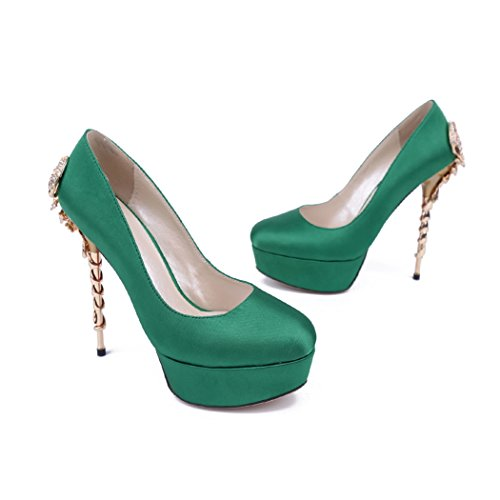 Semelle femme Minitoo vert Vert compensée gSnxwfn