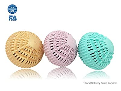 ZEO DR. Green Clean Wash Ball, Wash Without Detergent. Reusable Non-Toxic Eco-Friendly and Chemical-Free Super Laundry Balls. Color Random
