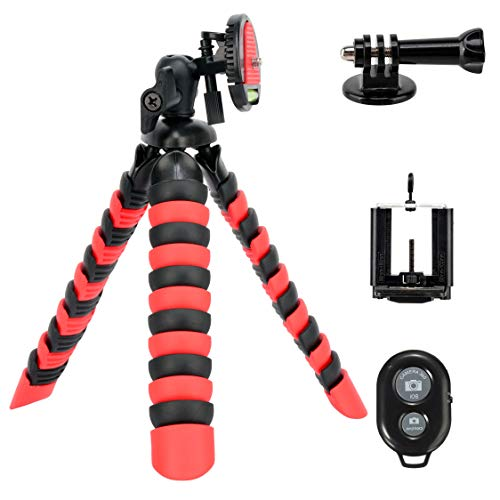 (Tairoad 3 in 1 Flexible Mini Tripod for DSLR/Action Cam/Smartphone Bendable Tripod Selfie Monopod)