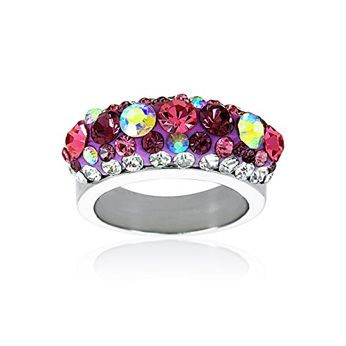 FASHIONVICTIME Ring For Women By Stainless-Steel Jewel - Crystal