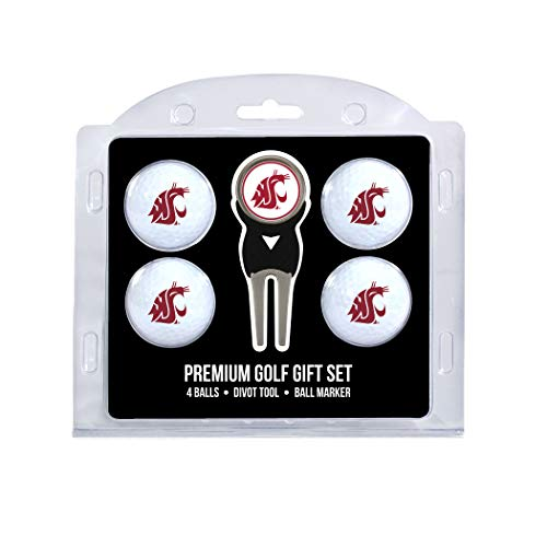 - Team Golf NCAA Washington State Cougars Regulation Size Golf Balls (4 Count) & Divot Tool with Removable Double-Sided Magnetic Marker