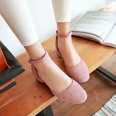 LFNLYX Zapatillas mujer primavera otoño invierno confort exterior de cuero atléticos casual talón plano Lace-up ejecutando blanco Pink