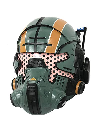 xcoser Cooper Helmet Deluxe Green Resin Glow Eyes Mask Halloween Cosplay]()