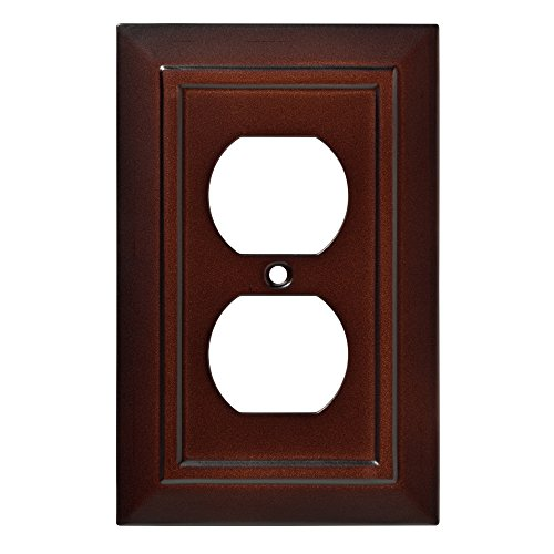 Franklin Brass W35242-ESO-C Classic Architecture Single Duplex Wall Plate/Switch Plate/Cover, Espresso - Brass Classic Lighting