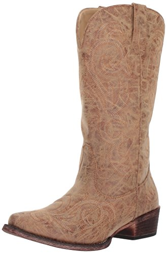 ROPER Women's Riley Western Boot, Tan, 11 D US (Size 11 Boots For Women)