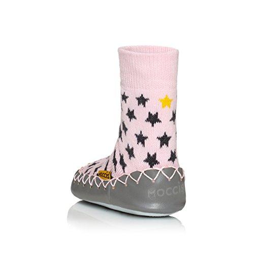 Moccis - Patucos para niña rosa rosa Stand