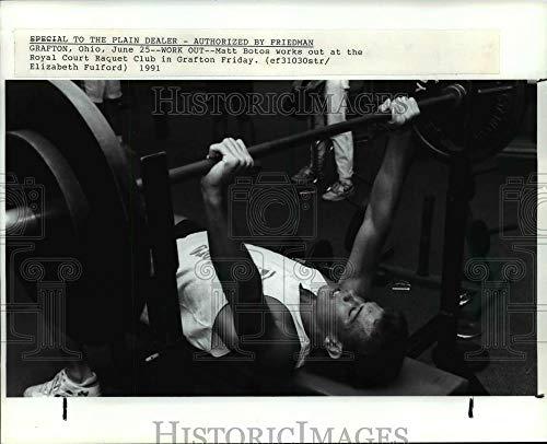 Vintage Photos 1991 Press Photo Matt Botos Works Out at The Royal Court Raquet Club in Grafton