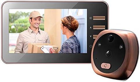 ビデオドアベルHD 720pビデオ品質、耐候性盗難防止ドアミラー監視モーション検出ビデオ録画家庭用キット