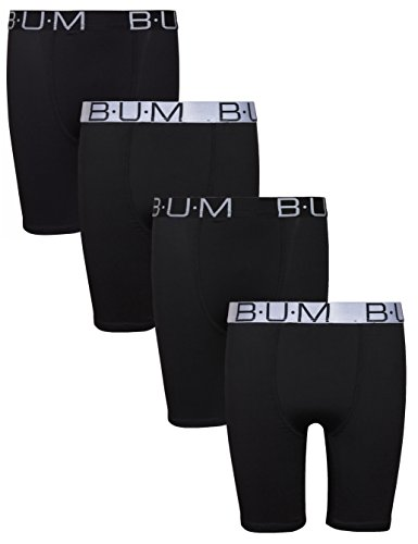 'B.U.M. Equipment Boys\' Performance Dri-Fit Compression Boxer Briefs, Black & Black, Small / 6-7' ()