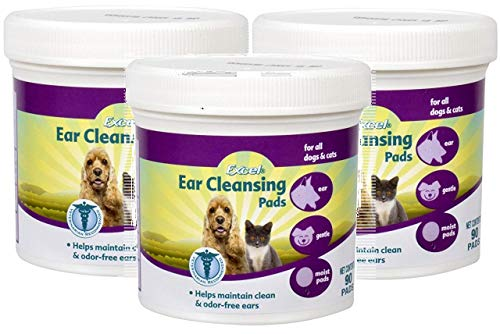 Excel 3 Pack of Ear Cleansing Pads for All Dogs and Cats